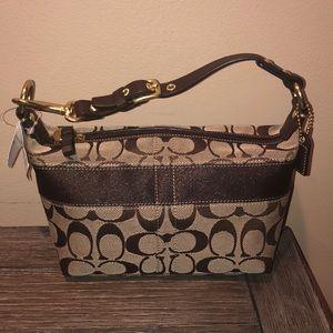 Coach small brown classic logo purse NWT